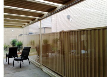 Geared or Motorised Clear PVC Cafe Blinds